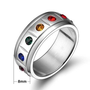 Other - Size 9 LGBT Rainbow Ring